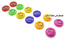 Imanes para refrigerador con caras sonriente Para Oficina Y El Hogar Varios Colores