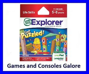 NEW! Leap Pad  Game, Get Puzzled Leapfrog LeapPad, LeapsterGS Maths