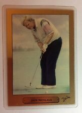 """1991 1 GRAM PURE 999.9 GOLD ART PM CARD BY GREG PERILLO """"JACK NICKLAUS GOLFER #a"""