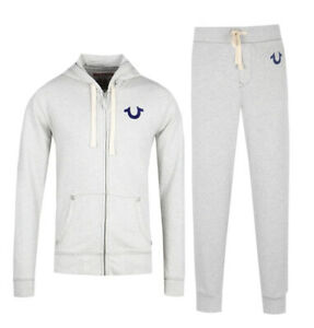 New Mens True Religion Oatmeal Classic MA0H023MF4 Tracksuit  £200 RRP