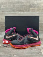 Nike Air Max Lebron 10 X Floridian Black Pink Orange Silver 541100-005 Size 11