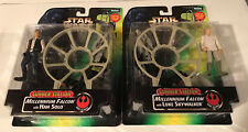 2 Gunner Stations (Han Solo and Luke Skywalker) figure packs (MINT) Star Wars