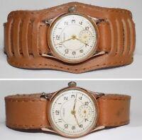 Rare montre ancienne mécanique homme Victoire, bracelet neuf, des années 1954