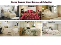 Bianca Reverse Sham Bedspread Collection in All Sizes