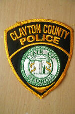 Patches- CLAYTON COUNTY STATE OF GEORGIA POLICE PATCH (NEW, apx.11x10 cm)