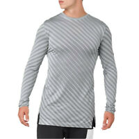 Asics Mens Seamless Long Sleeve Top Grey Sports Running Breathable Reflective