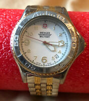 Wenger swiss military watch. Silver And Gold Stainless Steel Band