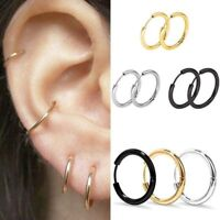 3Pair/set Women Retro Gold Silver Metal Circle Small Ring Hoop Earrings Jewelry