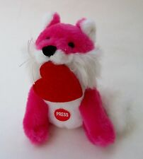 drwr pink FOX kiss plush mini Valentine's Day message smooch soft sounds kissing