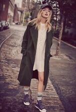 NEW Free People Maxi Swing Trench Coat Size XS Green - Missing The Belt