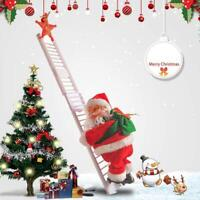 Christmas Animated Santa Claus Climbing Ladder Up Tree Christmas Decoration