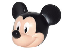LEGO - Minifig, Head Modified Mouse w/ Black Ears, Nose & White Eyes (Mickey)