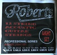 Set of Roberts 12-string Acoustic Guitar Strings. 10/10 - 47/27