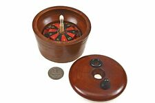 """Rare Sized Antique Cased 3 1/4"""" Roulette Wheel, French."""