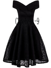 Cocktail Dress For Women Vintage Lace Off-The-Shoulder Homecoming Swing DressES