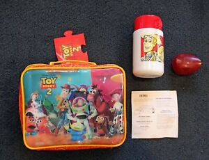 """Toy Story 2 """"The Gang"""" Insulated Lunchbox with Thermos and Chip case!"""