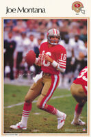 POSTER: NFL FOOTBALL: JOE MONTANA - SAN FRANCISCO 49'ERS -FREE SHIP #4234 RC12 F