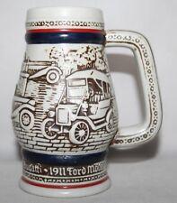 Avon - 1982 Handpainted Mug - Vintage Cars -  MG, Bugatti, Ford Model T - vgc