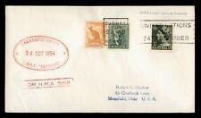Dr Who 1954 Australia Sydney Hmas Quadrant Naval Ship To Usa f58466