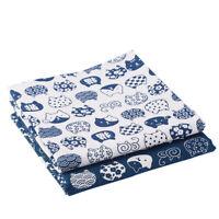Cartoon Cat Print Cotton Rich Linen Fabric Material for DIY Curtain Upholstery