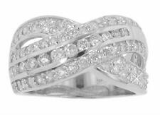 Crossing Anniversary Band Ring In Platinum 2.15 Ct. Tw Round Cut Diamond