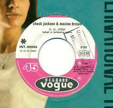"CHUCK JACKSON & MAXINE BROWN - C. C. Rider 7"" FLC s6060"