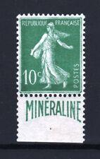"FRANCE STAMP 188 A "" SEMEUSE 10c BANDE PUBLICITAIRE MINERALINE "" NEUF TTB R913"