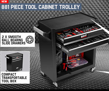 881 Piece Tool Cabinet Tool Set Wheels Box Mechanic Trolley Cordless Screwdriver