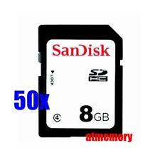 50x SanDisk 8GB SD SDHC 8G Class 4 Memory Card Bulk Package Lot of 50pcs