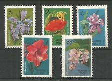 RUSSIA 1971 TROPICAL FLOWERS SG,4010-4014 U/M NH LOT 5856A