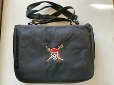 Embroidered Skull Pirate Pin Trading Bag w/Strap Does not have any Disney Pins