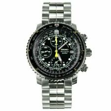 Seiko Flight Men's Black Watch - SNA411