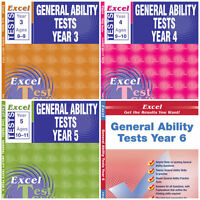 TEST SKILLS - GENERAL ABILITY TESTS BUNDLE PACK YEARS 3,4,5 & 6