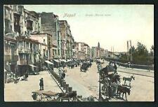 Napoli : Strada Marina Nuova - cartolina non vgt., circa fine '800 / Primi '900