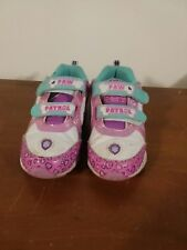 Nickelodeon Paw Patrol Girls Shoes Sz11 M Athletic Hook&Loop Lights Up Pink