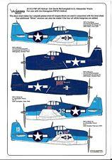 Warbird F6F-3/5 Hellcat Decals 1/32 012 5 Opts.,McCampbell, Vraciu, No Insignias