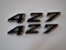 FORD 427 ENGINE ID FENDER HOOD SCOOP QUARTER PANEL TRUNK EMBLEMS - BLACK