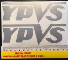 2x Plata YPVS Adhesivo Calcomanía 150 Mm x 47 mm Calcomanía Pegatinas