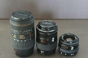 Lot of 3 Minolta / Sony AF Lenses for Sony/ Minolta AF 35mm Film Camera