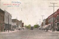 Vintage Postcard Main Street, Milford Indiana , c1907. pb2