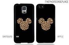 Disney Leopard Skin Mickey Head Apple iPhone and Samsung Galaxy Phone Case Cover