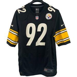 Nike On Field James Harrison #92 Pittsburgh Steelers NFL Football Jersey Mens M