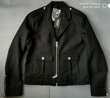 Versus Versace Lion's Head men's black jacket size 54 - Fitted, Made in Italy