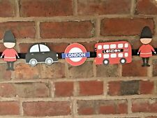 London Theme Bunting Underground Bus Taxi Soldiers Children's Bedroom, Playroom