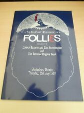 More details for stephen sondheim follies dolores gray diana rigg 1987 london  aids charity prog