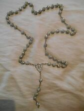 Old Vintage or Antique Roma Relic Rosary Necklace Beads Filigree Cages Catacombe