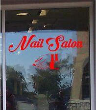 Nail Salon Business Sign Vinyl Sticker Sign Window 14x30