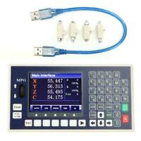 4 Axis CNC Controller MPG 3.5inch TFT 400KHz Servo Stepper for Milling Machine