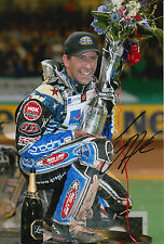More details for greg hancock hand signed 12x8 photo speedway champion 6.