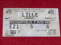 [COLLECTION SPORT FOOTBALL] TICKET PSG / LILLE 28 JUILLET 2001 Champ.France
